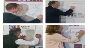 Candidatos firman el Pacto por la Primera Infancia