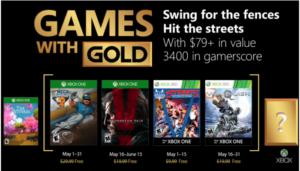 Microsoft anunció los cuatro videojuegos que se podrán descargar de forma gratuita en las consolas Xbox One y Xbox 360 a través del programa Games With Gold durante el mes de mayo 2018 exclusivamente para miembros Xbox Live Gold.