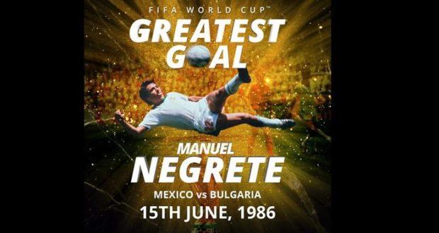 La anotación que el mexicano consiguió en el Mundial México 86 obtuvo más votos y fue la ganadora.