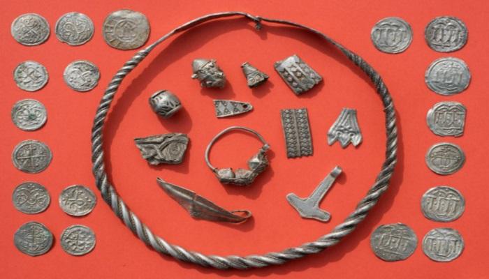 Parte de los objetos vikingos localizados