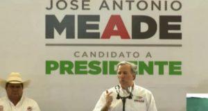 Meade pide a los mexicanos dejar atrás la época de los caudillos