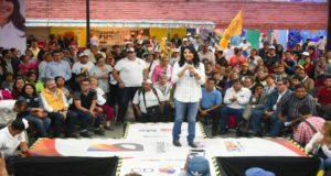 """Alejandra Barrales afirma que sacará de las calles a la delincuencia dado que el narcotráfico """"no es bienvenido"""" y aseguró que tiene un plan de acción para reforzar la seguridad."""