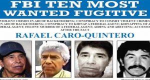 EU coloca a Caro Quintero en la lista de los 10 más buscados por el FBI