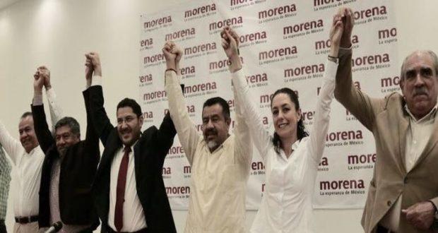 Claudia Sheinbaumen campaña electoral por la jefatura de gobierno de la CDMX. Invita a militantes de otros partidos a sumarse a su campaña