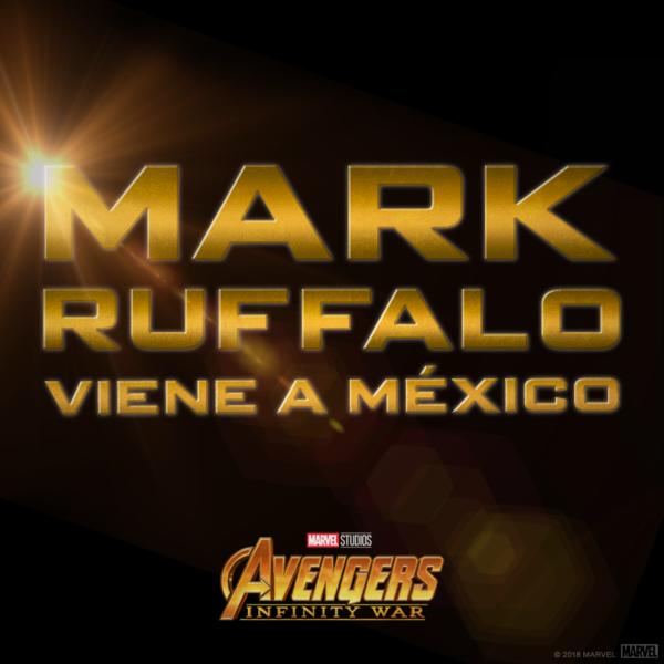 Mark Ruffalo, actor que interpreta a Hulk, vendrá a México