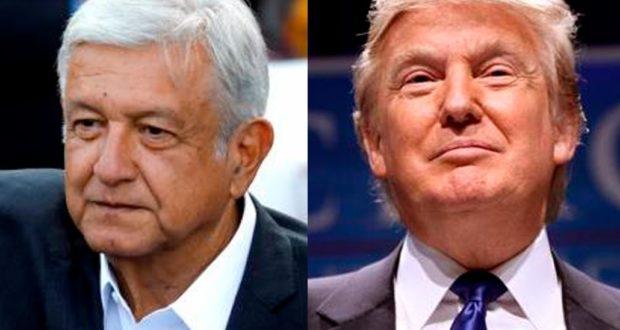Presidente electo de México, López Obrador y Presidente de Estados Unidos, Donald Trump