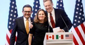negociadores del nuevo acuerdo comercial USMCA