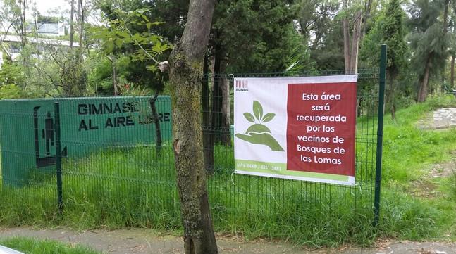Areas verdes Bosques de las Lomas.