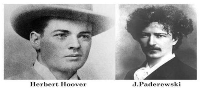 Hoover y Paderewski