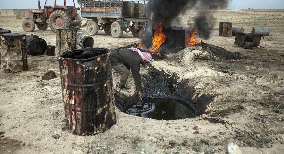 Robo de crudo iraquí por el Estado Islámico.