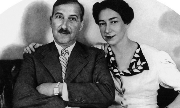 Stefan Zweig y su esposa