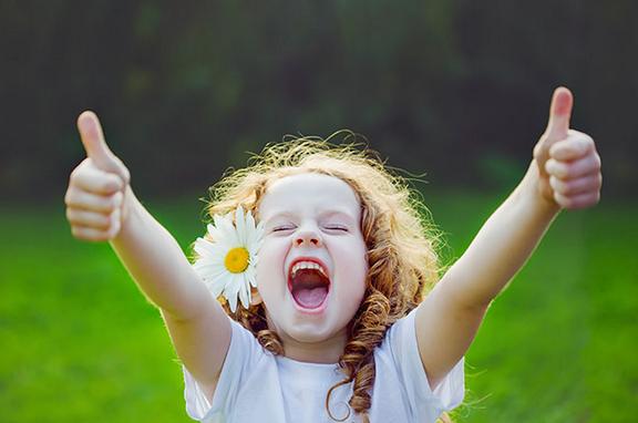 actitud de alegría