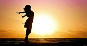 mujer y el sol