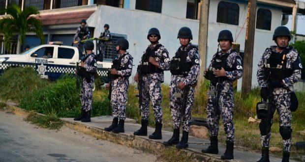 Guardia Nacional en Minatitlán