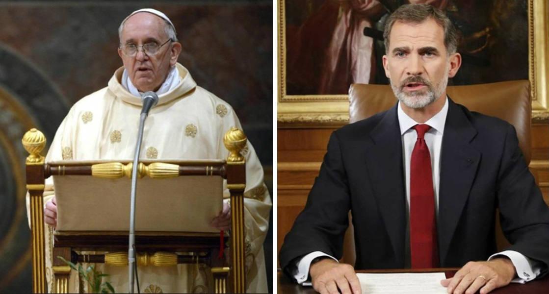 Rey Felipe IV y Papa Francisco.
