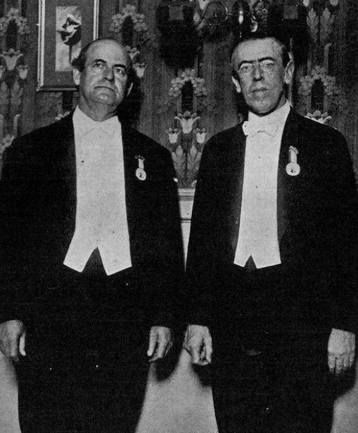 Woodrow Wilson y William Jennings Bryant.