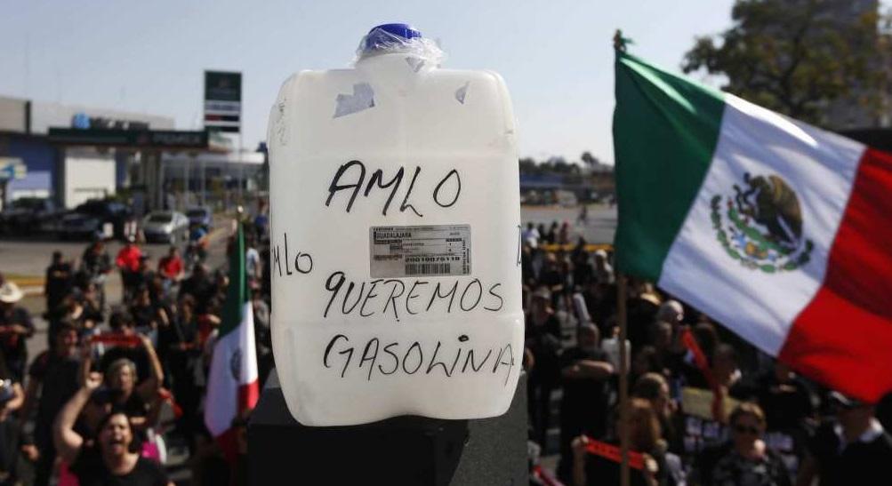 Gasolinazo en México.