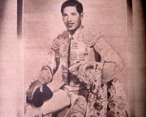Torero mexicano Antonio Velázquez.