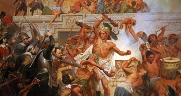 Caida aztecas.