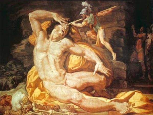 Ulises y Polifemo.