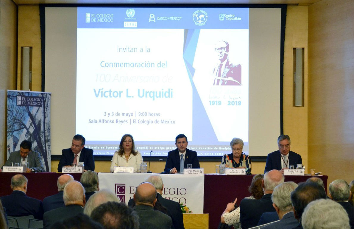 Homenaje a Víctor L. Urriquidi en el Colegio de México, 2019.