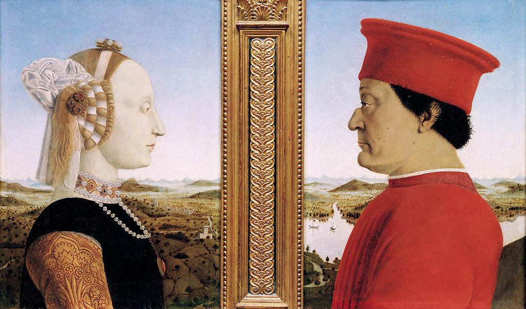 Retrato de los Duques de Urbino.