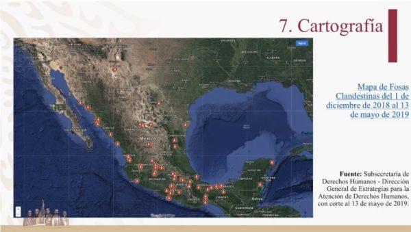 mapa de fosas clandestinas en México