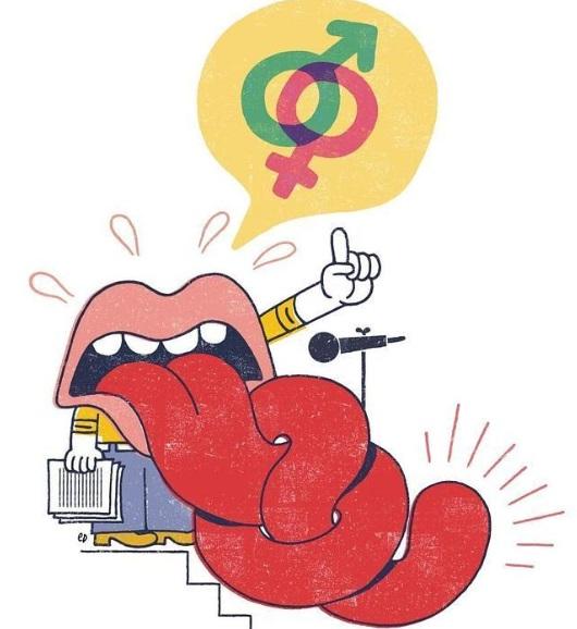 Lenguaje sexualizado.