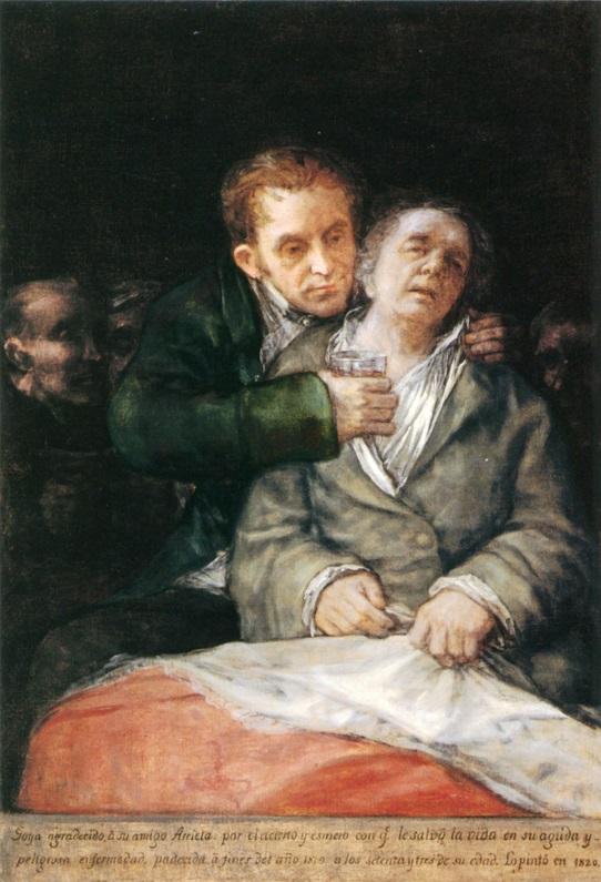 Goya atendido por el doctor Arrieta.