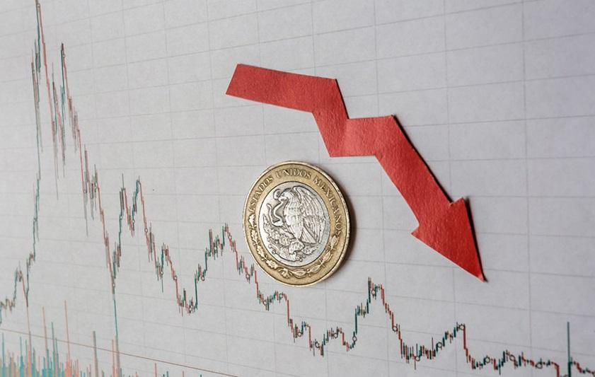 Caída del PIB.