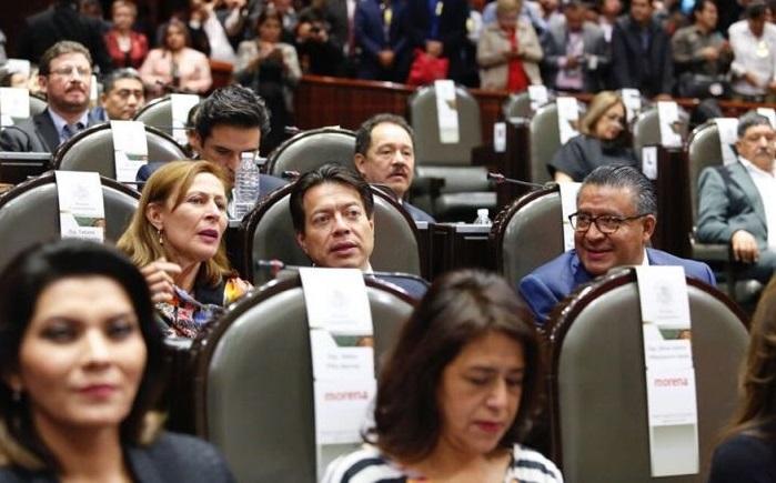 Cámara de diputados de MORENA.