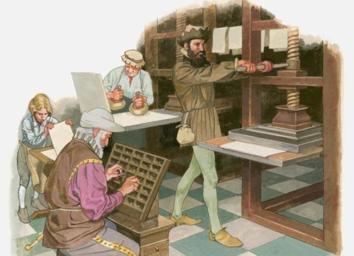 Imprenta de Gutenberg.