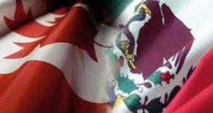 Relación México-Canadá banderas