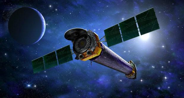 Satélite espacial.