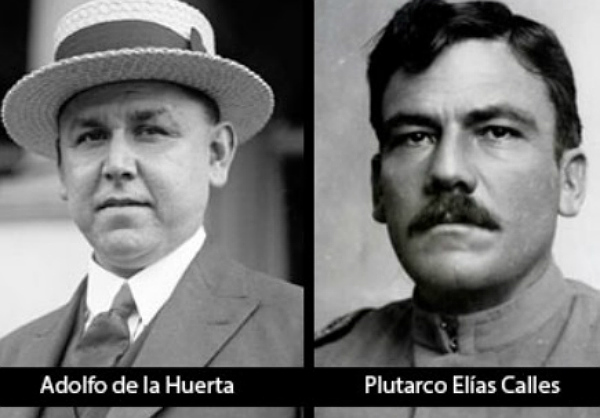 Adolfo de la Huerta y Plutarco Elías Calles.
