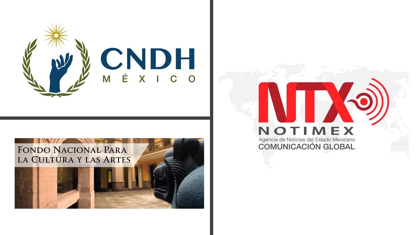 CNDH, NOTIMEX y FONCA.