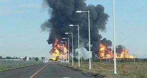 Explosión en ducto de Pemex en Celaya