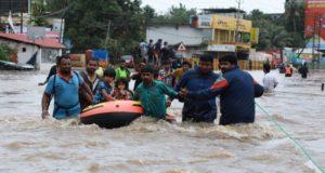 Al menos 200 personas muertas y más de siete millones se han visto afectadas a causa de las inundaciones provocadas por el monzón que afecta a India, Nepal y Bangladesh, informaron medios locales.