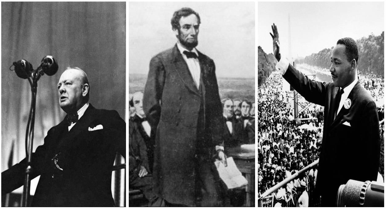 Líderes políticos y oradores.