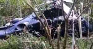 Cae helicóptero en Michoacán; mueren titulares de SSP