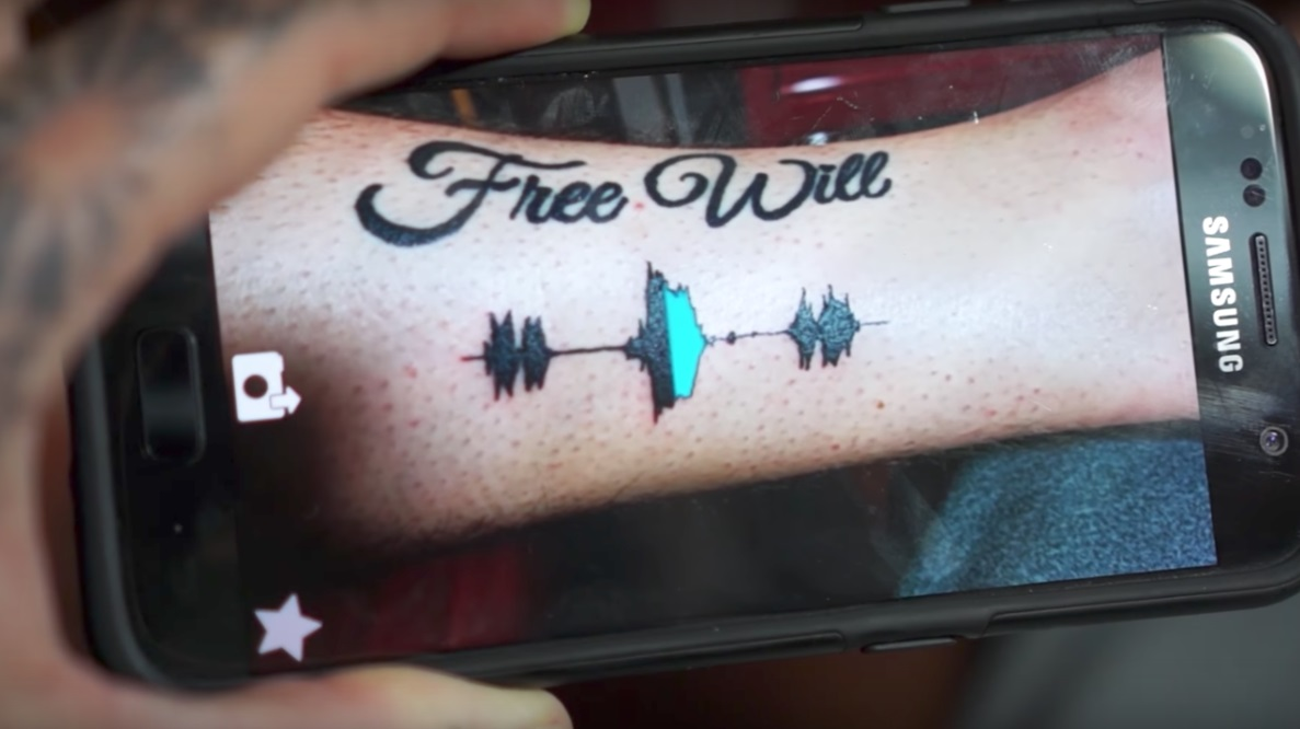 Soundwave tattoo.