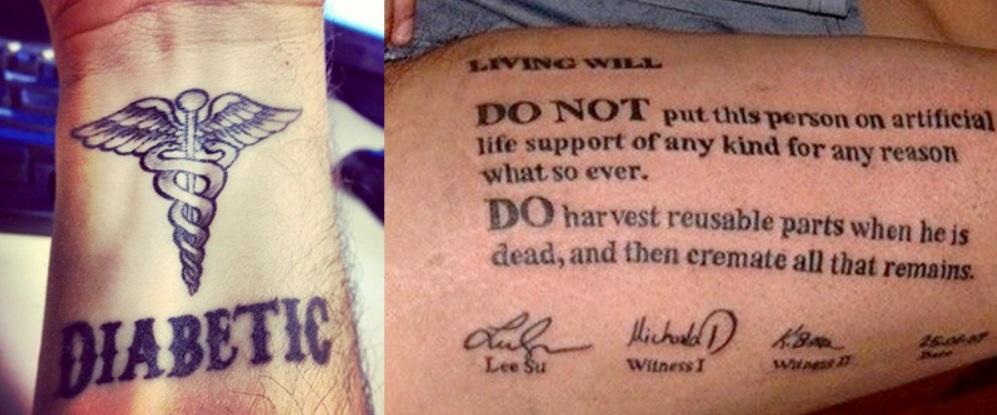 Tatuajes médicos.