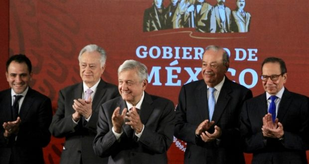 López Obrado, Carlos Slim, Manuel Bartlett