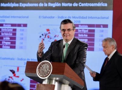 secretario de Relaciones Exteriores, Marcelo Ebrard,