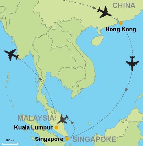 Hong Kong, Malasia, Singapur