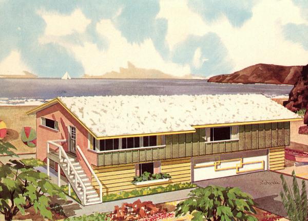 Casa en la playa.