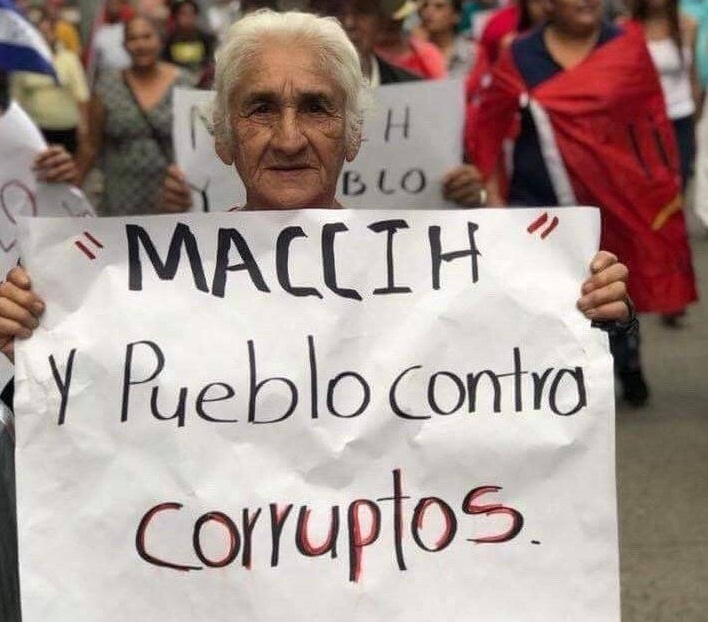 Contra la corrupción.