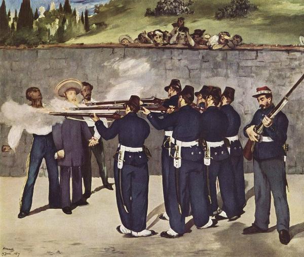 La ejecución de Maximiliano.