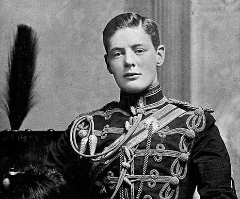 Churchill de Joven.
