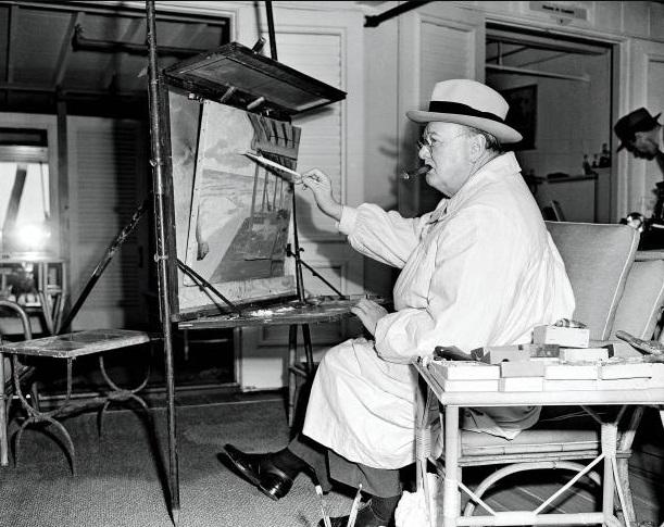 Arte de W. Churchill.